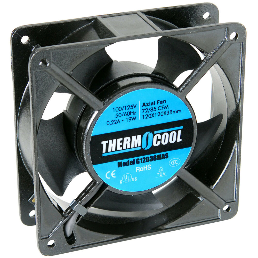 Thermocool 110 Vac Fan 120 X 38mm Sleeve Bearing 72 Cfm Ebay