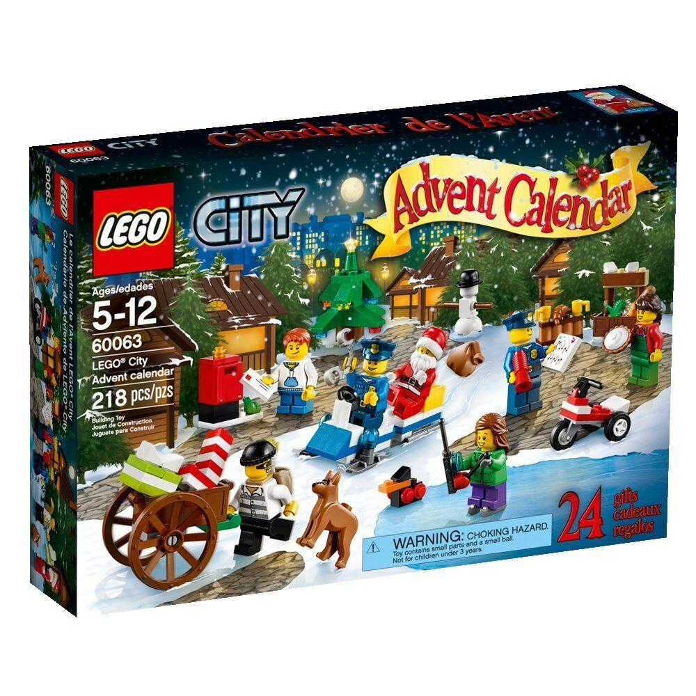 lego city advent calendar 60063 6059276 boys girls 5 12. Black Bedroom Furniture Sets. Home Design Ideas
