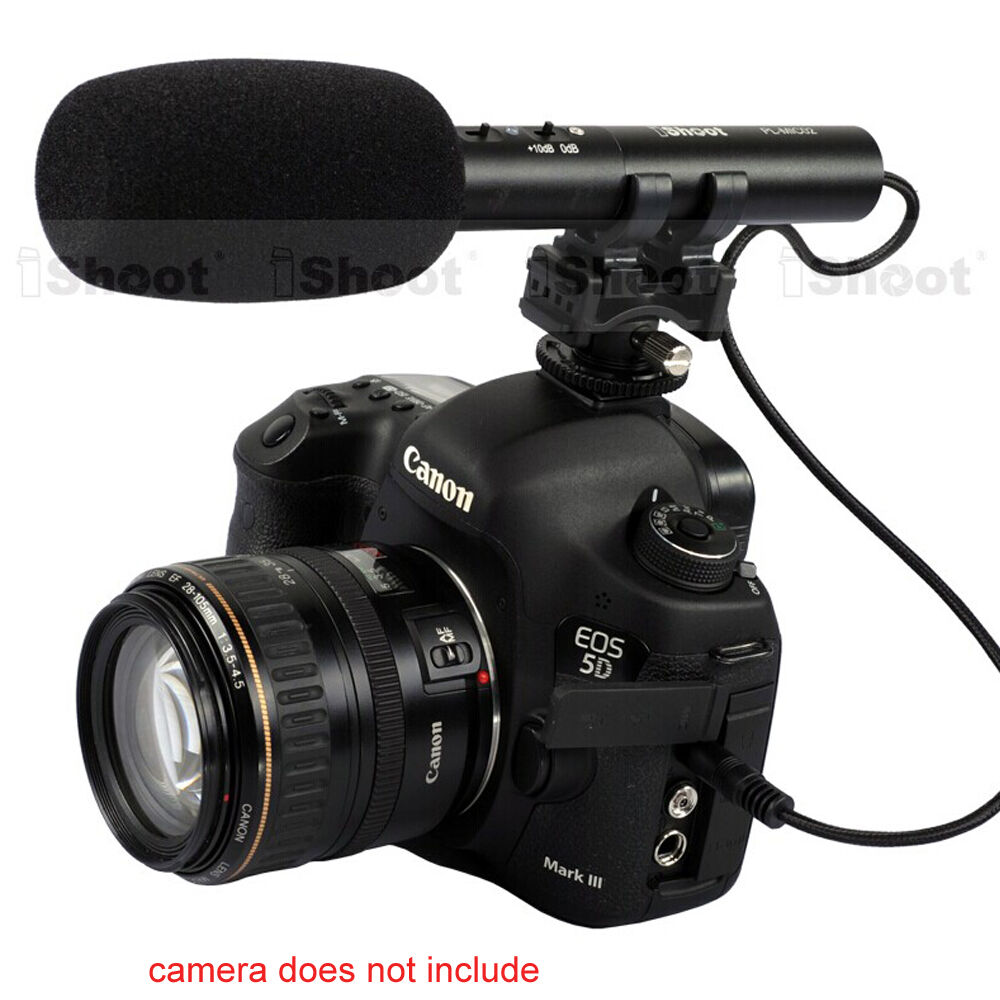 Professional MIC Stereo Microphone for Canon 5D Mark III ...