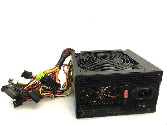 Power For Computer : W watt atx pc power supply sata pcie mm single