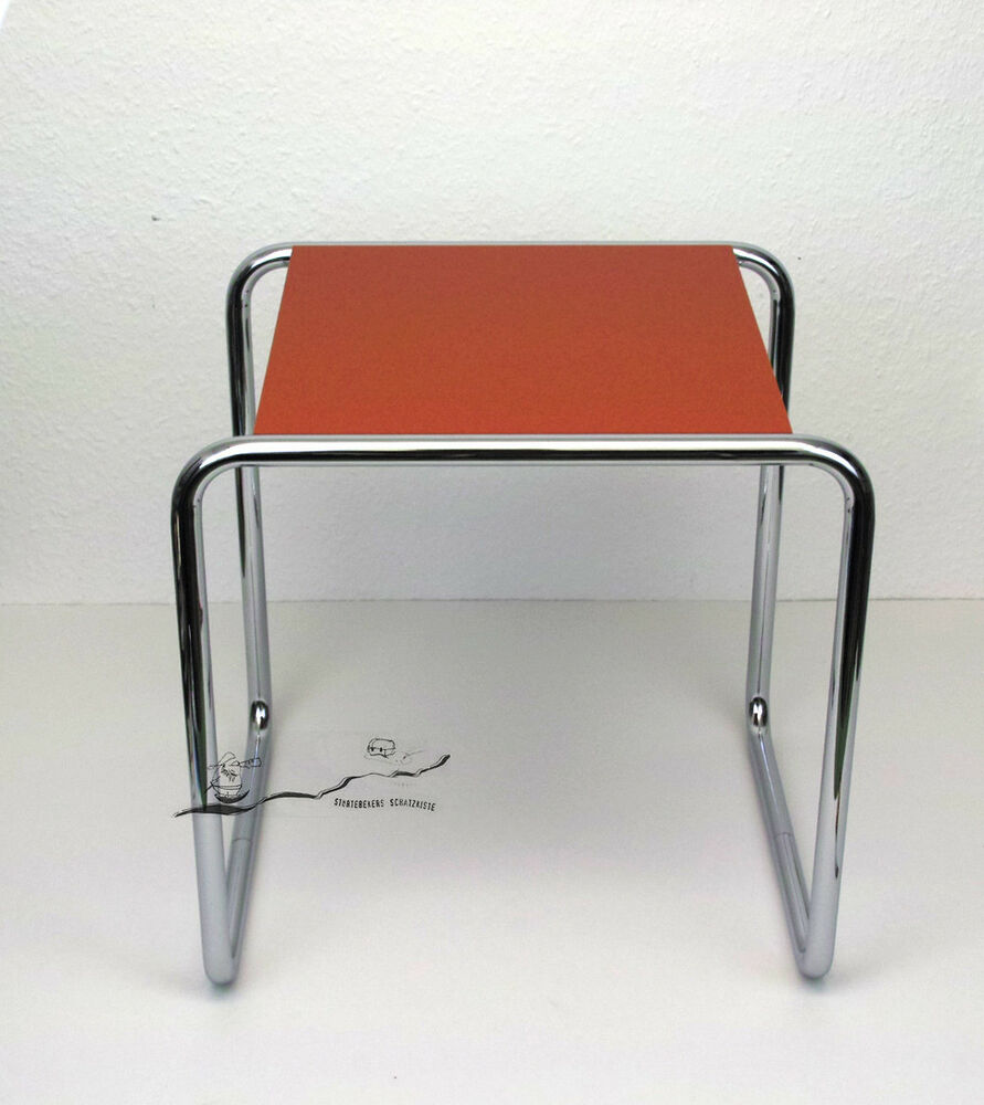 bauhaus dessau marcel breuer hocker tisch b 9a rot stahlrohrklassiker ebay. Black Bedroom Furniture Sets. Home Design Ideas