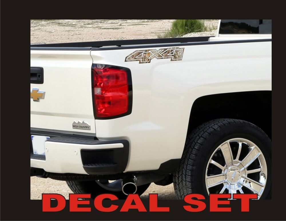 4x4 Truck Decals Real Tree Camouflage Set For Chevrolet Silverado Camo Chevy Ebay