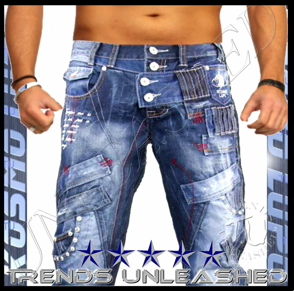 ALL SIZES AVAILABLE Mens Kosmo Lupo Size 34 Jeans for Man K &ampamp