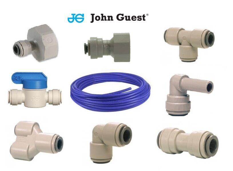 """Quick Connect Air Fittings >> John Guest 1/4"""" Speedfit Water Filter Push Fit Tap Connectors Filter Tubing Blue 
