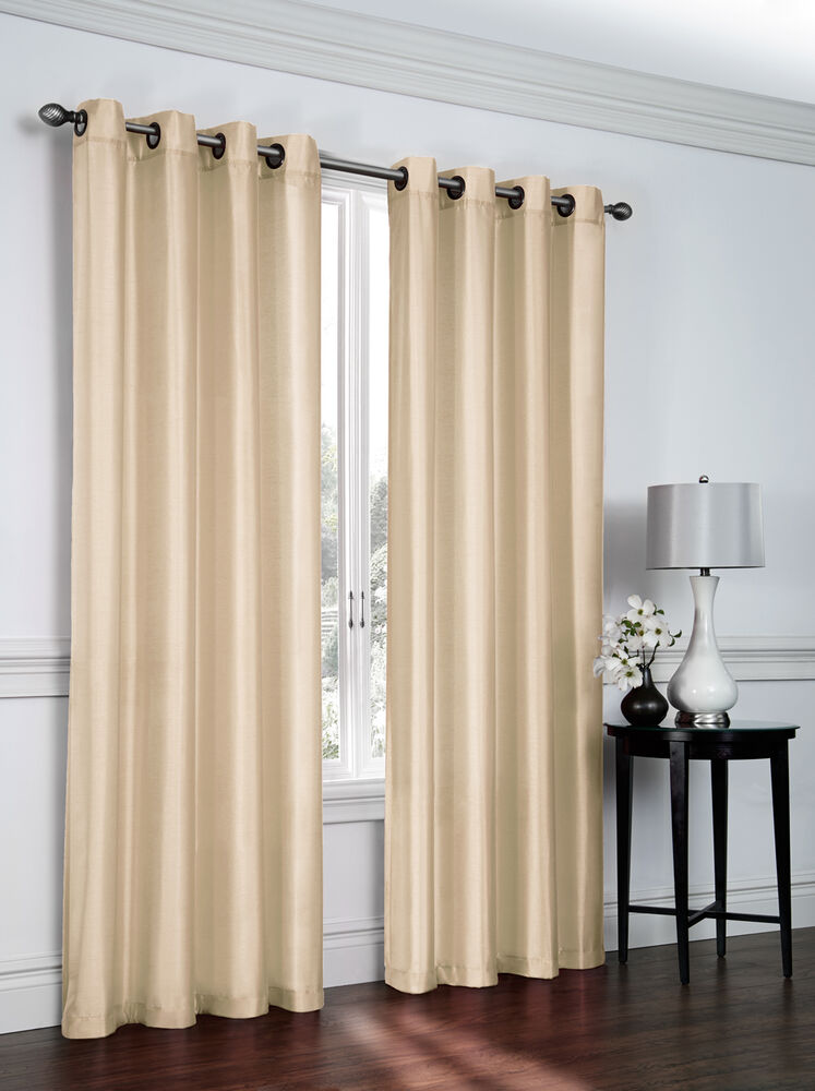 Faux Silk Grommet Curtain Panel By Victoria Classics 54 Quot X
