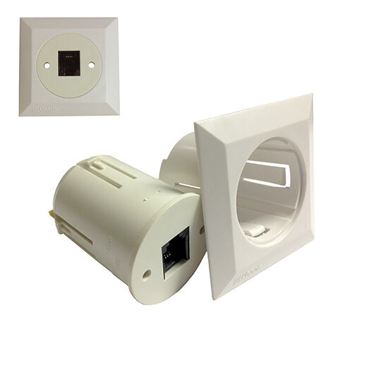 Eagle telephone wall plate with rj11 jack 4 conductor for Bodendirect outlet