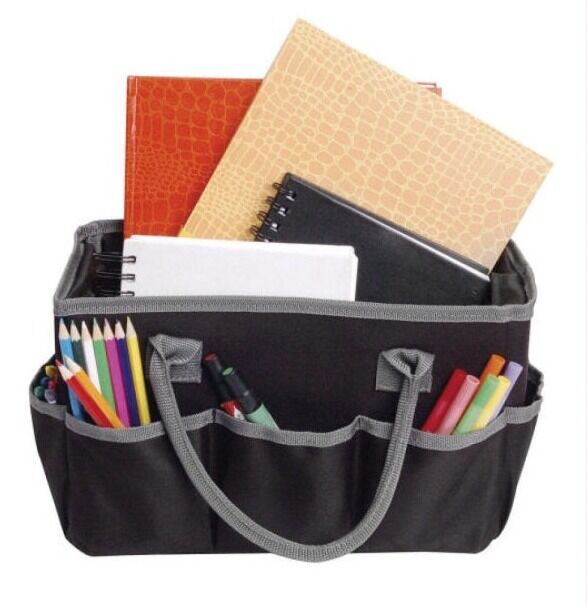 Craft organizer artist fundamentals tote bag ebay for Arts and crafts tote bags