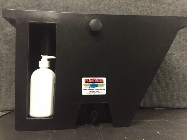 Vehicle Water Tank With Soap Dispenser 25l Under Tray Ute Angled Black Lh Ebay