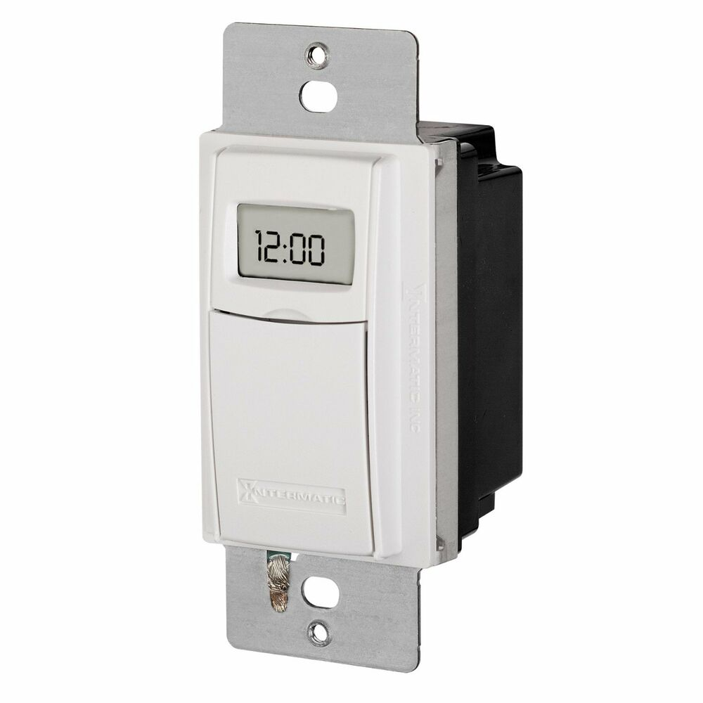 INTERMATIC - ST01 Self Adjusting Programmable Wall Switch Timer, White : eBay