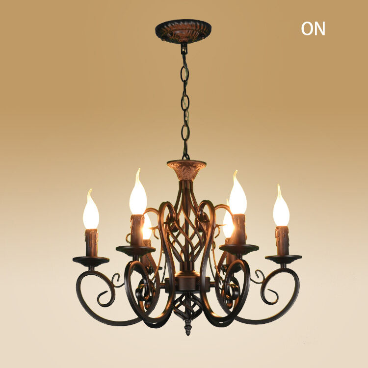 Candle Light Fixture: Vintage Ceiling Lamp 6 Candle Lights Lighting Fixtures