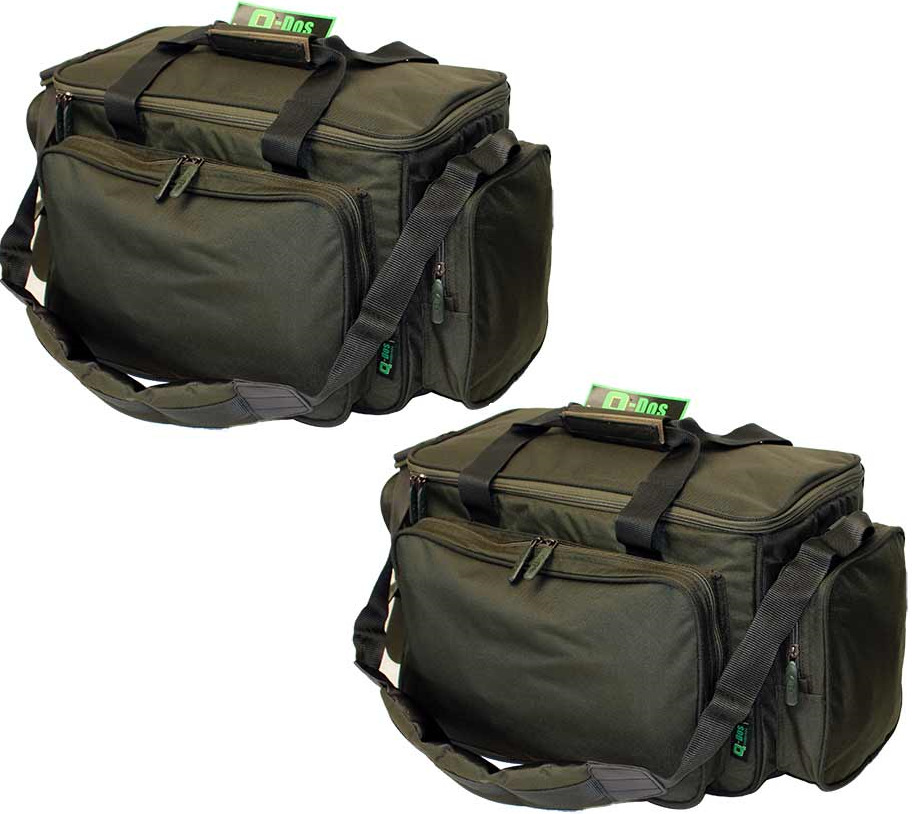 2 x ngt carp fishing insulated green padded carryall for Fishing tackle bag