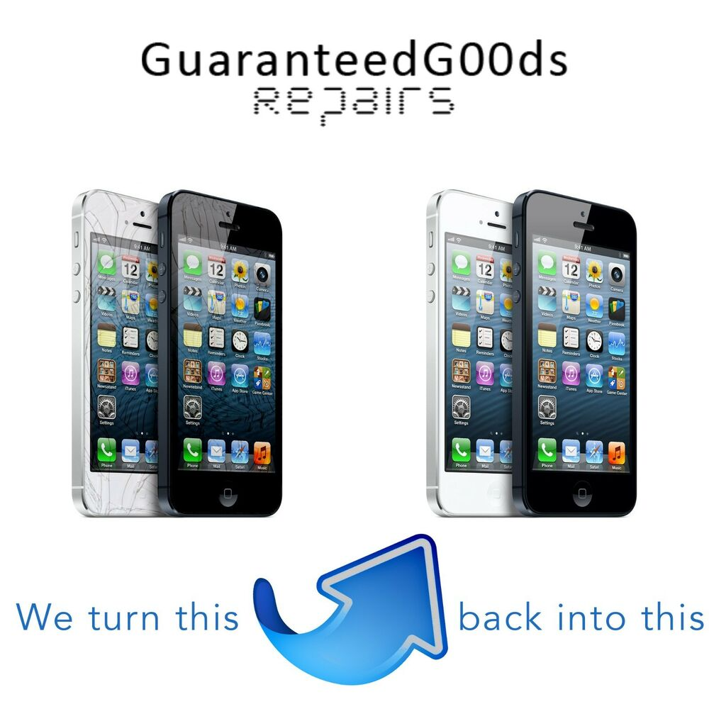 apple iphone 5 oem lcd or glass screen digitizer replacement repair service ebay. Black Bedroom Furniture Sets. Home Design Ideas