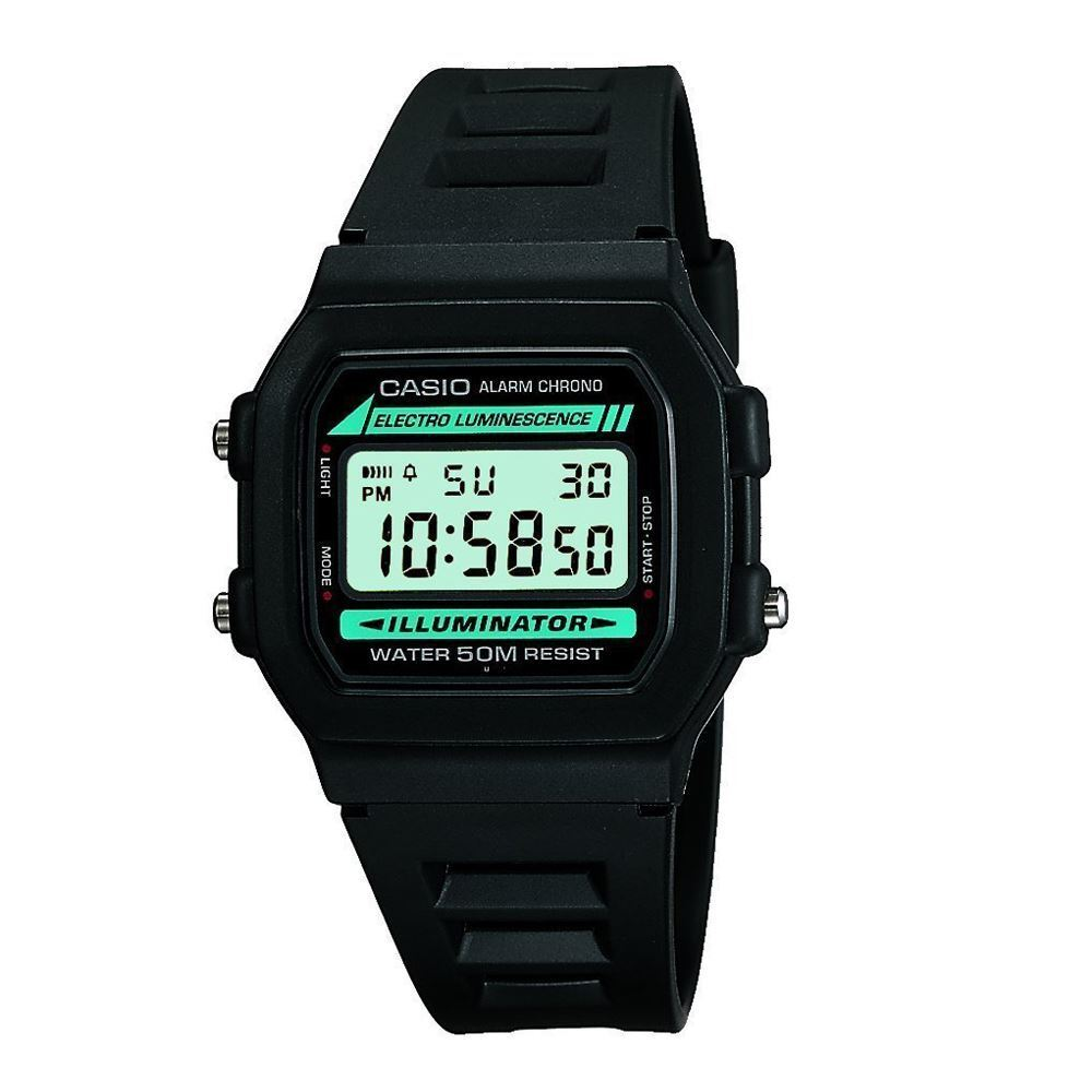Casio w 86 1vqes water resistant alarm casual digital for Youtube h2o
