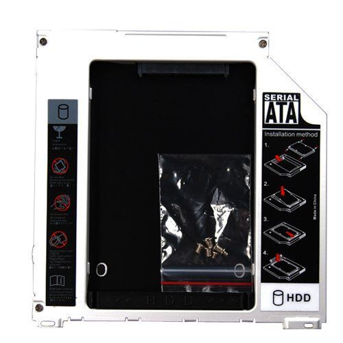 mac caddy 2 5 sata to sata hard drive bay caddy macbook macbook pro 13 15 17 ebay. Black Bedroom Furniture Sets. Home Design Ideas