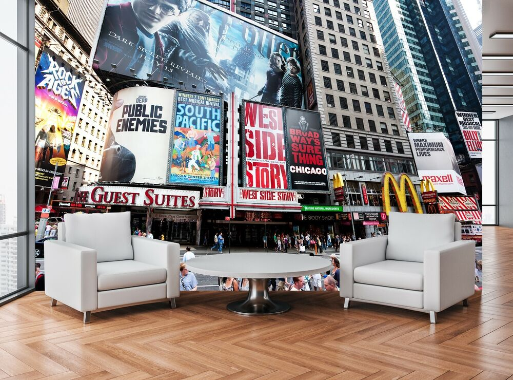 Broadway wall mural photo wallpaper giant wall decor paper for Broadway wall mural