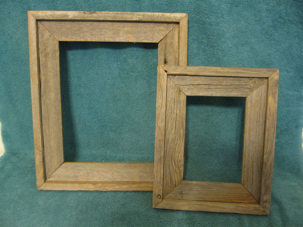 Rustic Barn Board Picture Frames 3 Sizes 5x7 8x10 11x14 Ebay