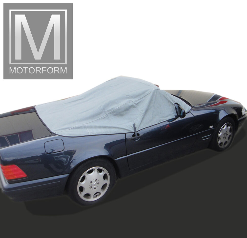 mercedes sl r129 cabrio cover tonneau halbcover w129 verdeckschutz 500sl sl320 ebay. Black Bedroom Furniture Sets. Home Design Ideas