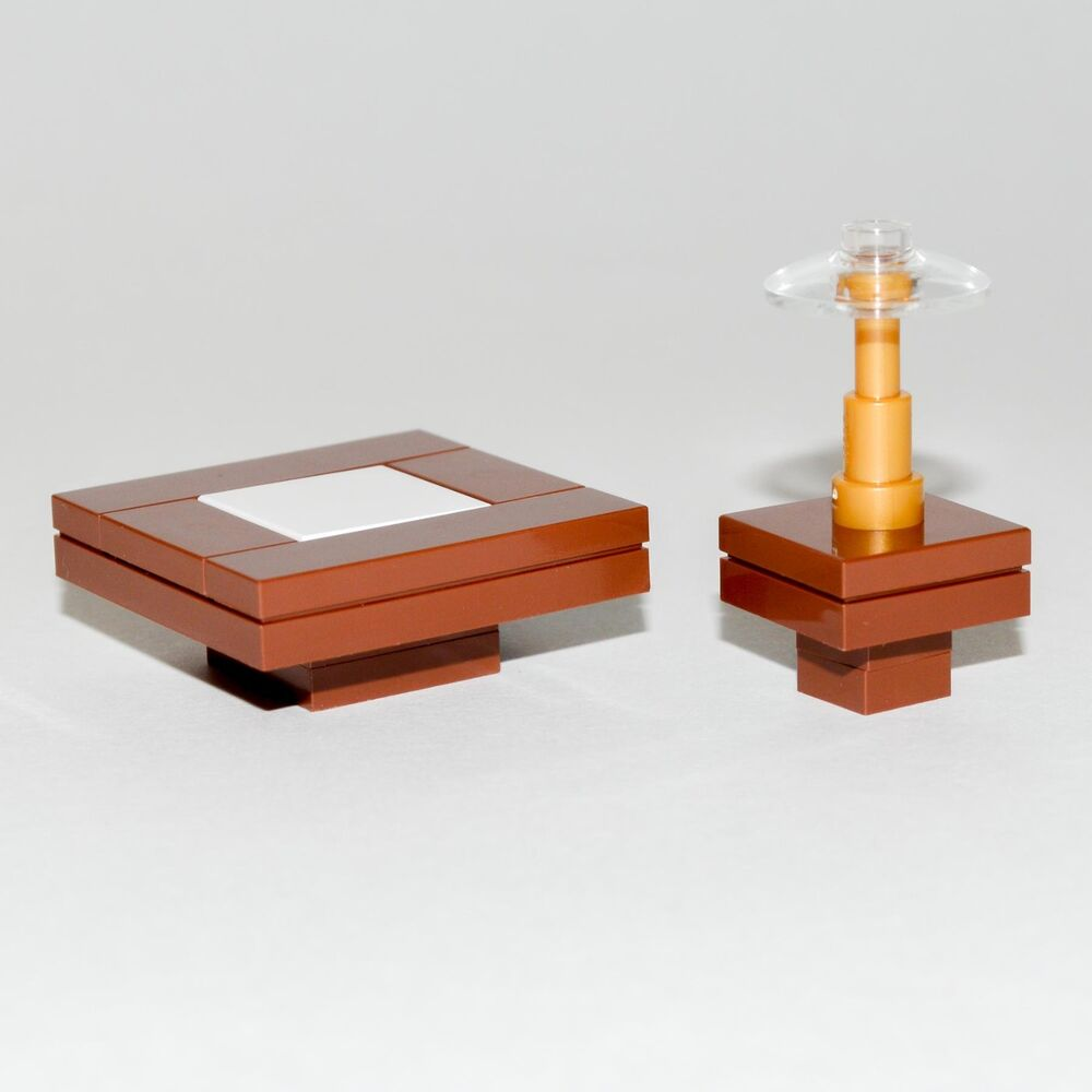 LEGO Furniture: Table Seating Set (Brown)