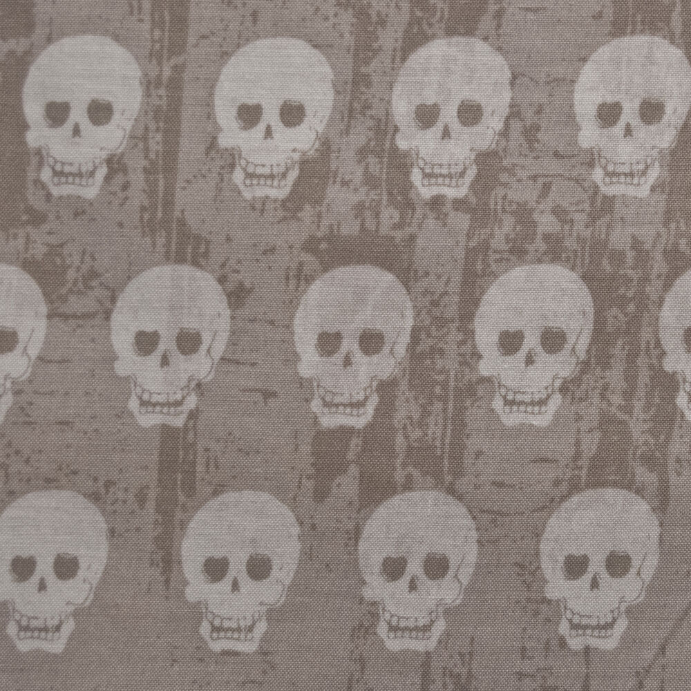 Rb36 small mini skulls gothic punk spooky creepy quilting for Cotton quilting fabric