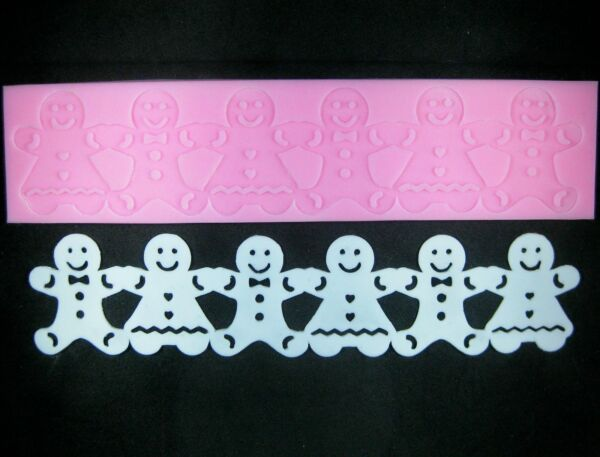 Gingerbread Man Silicone Lace Mould by Fairie Blessings
