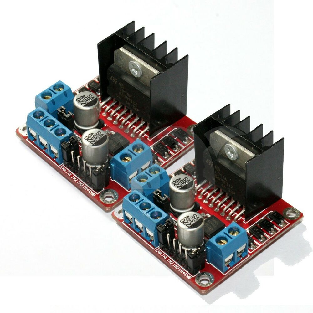 2 pcs dual h bridge dc stepper motor drive controller for Motor driver for arduino