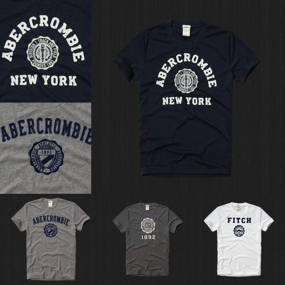 new abercrombie fitch men muscle fit heritage tee t shirt size s m l xl nwt ebay. Black Bedroom Furniture Sets. Home Design Ideas