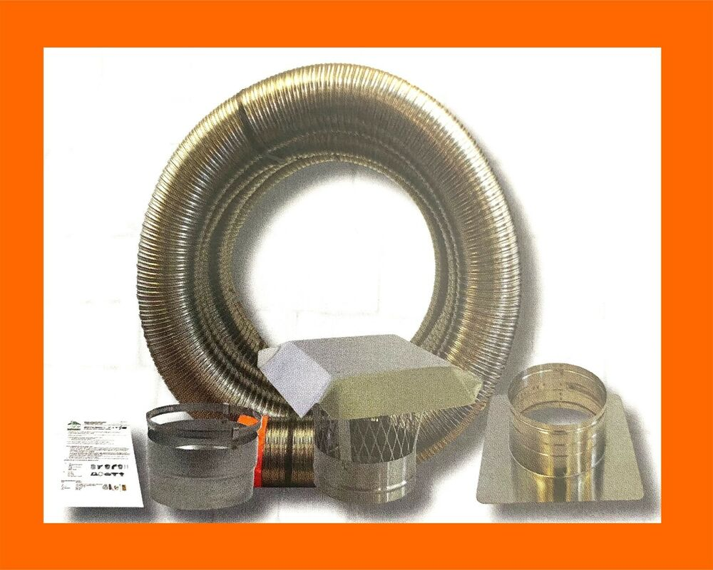 Smoothwall 6x25 Chimney Insert Liner Kit 316 Stainless