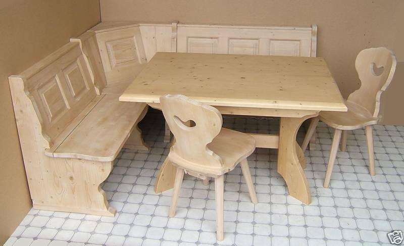 Amberg Kitchen Dining Nook Corner Seating Bench Set