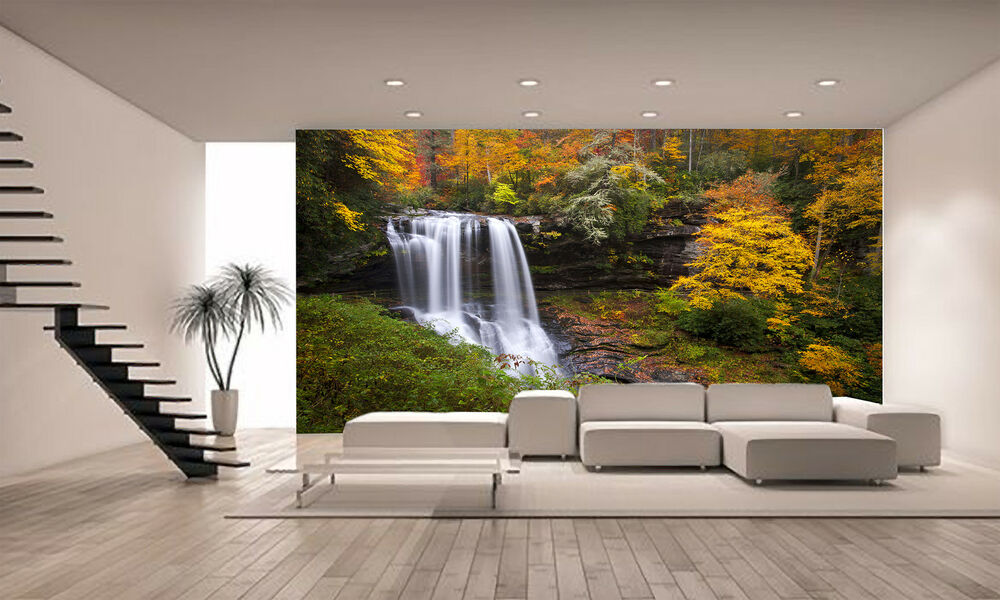 Photo Wallpaper Forest Waterfall Giant Wall Decor Paper. Renting Rooms. Decorating Walls. Decorative Bankers Box. Kids Room Decor. Decorator Furniture Outlet. Coastal Cottage Decor. Rugs For Kids Rooms. Boho Style Room