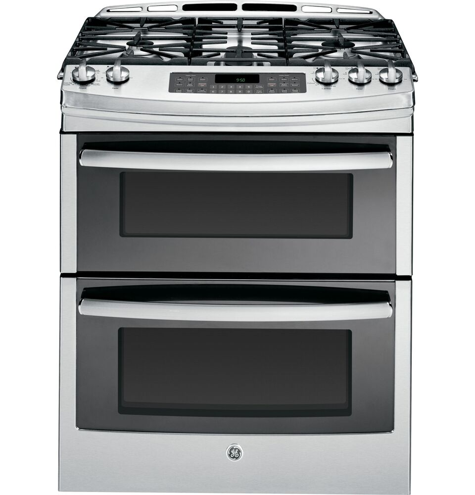 Ge Profile 30 Slide In Double Oven Stainless Steel Gas