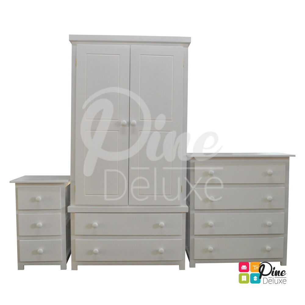 Handmade Shaker White 3 Piece Bedroom Set Limited Time Only Assembled Ebay
