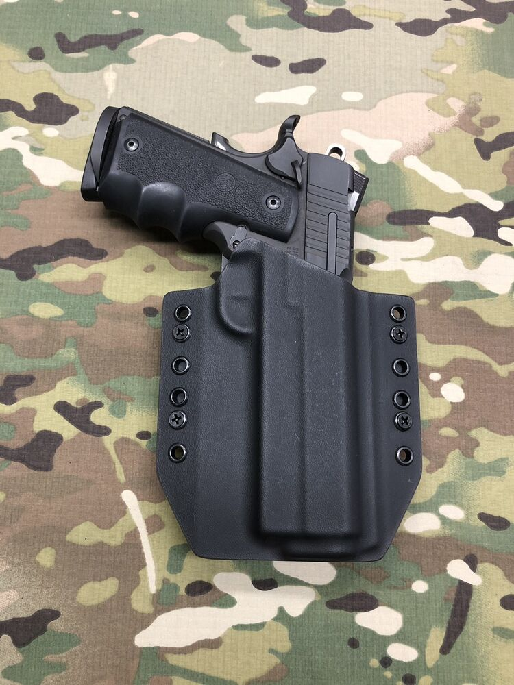 "Black Kydex Holster Traditional 5"" 1911 