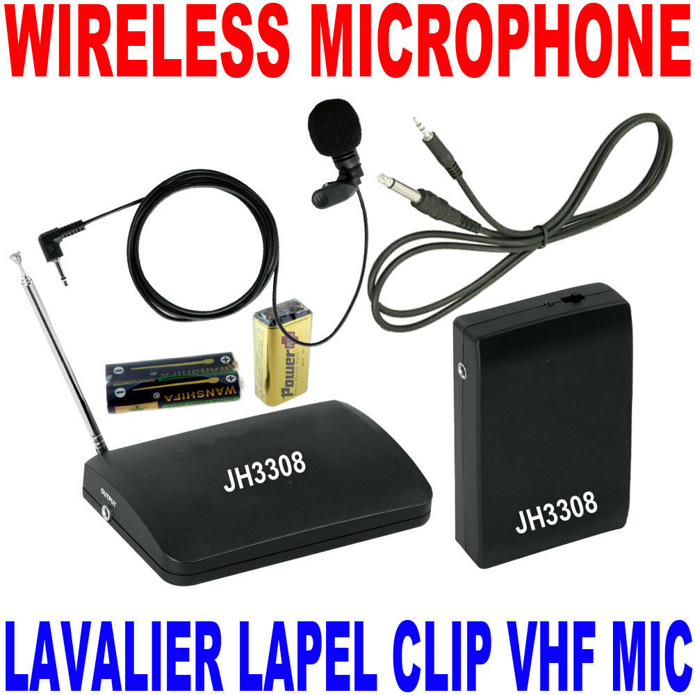 how to connect wireless microphone system to receiver