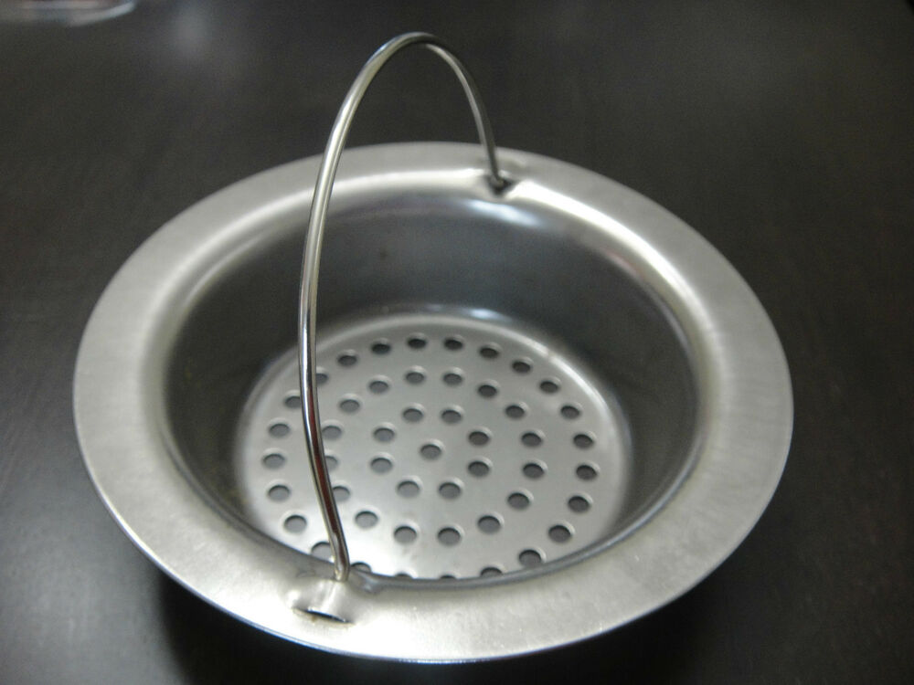 New stainless steel kitchen sink strainer waste plug drain - Kitchen sink plug ...