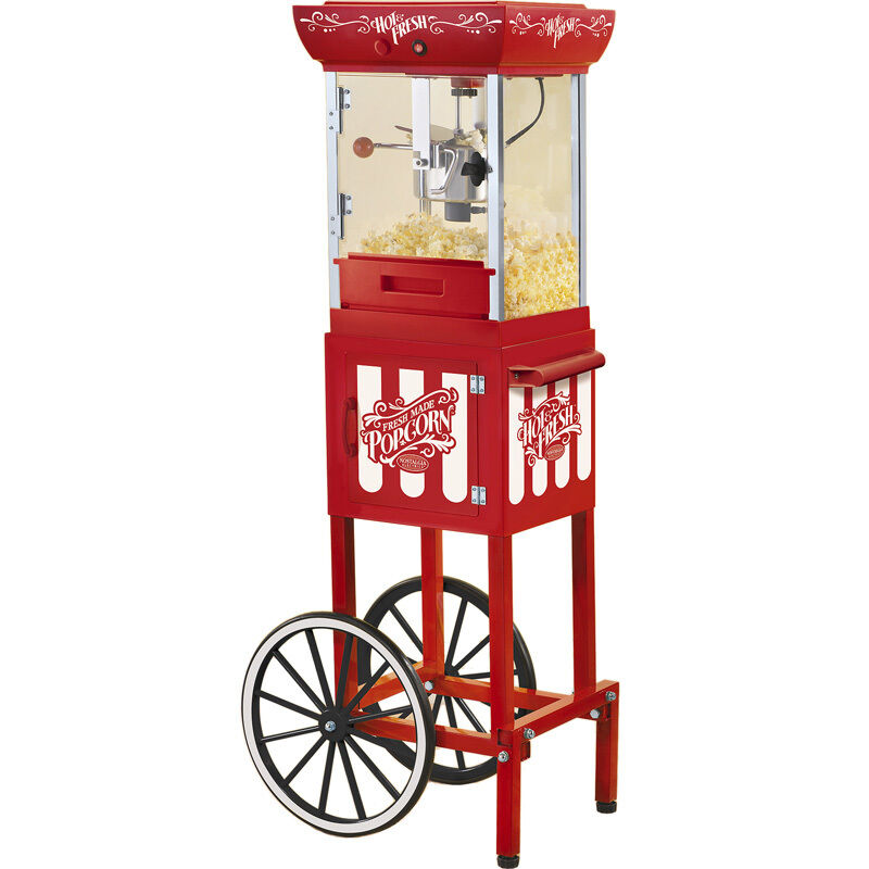 popcorn machine w vintage style cart stand old fashioned style popper ccp399 ebay. Black Bedroom Furniture Sets. Home Design Ideas