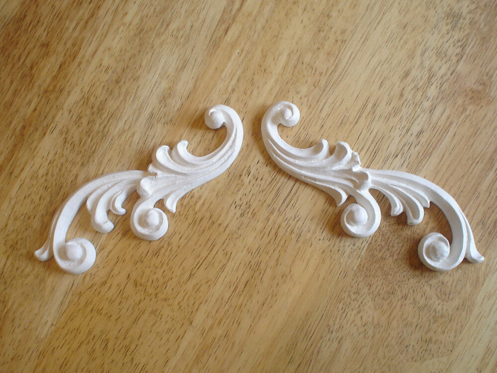 Ornate Architectural Mouldings : French ornate scrolls decorative mouldings white plaster