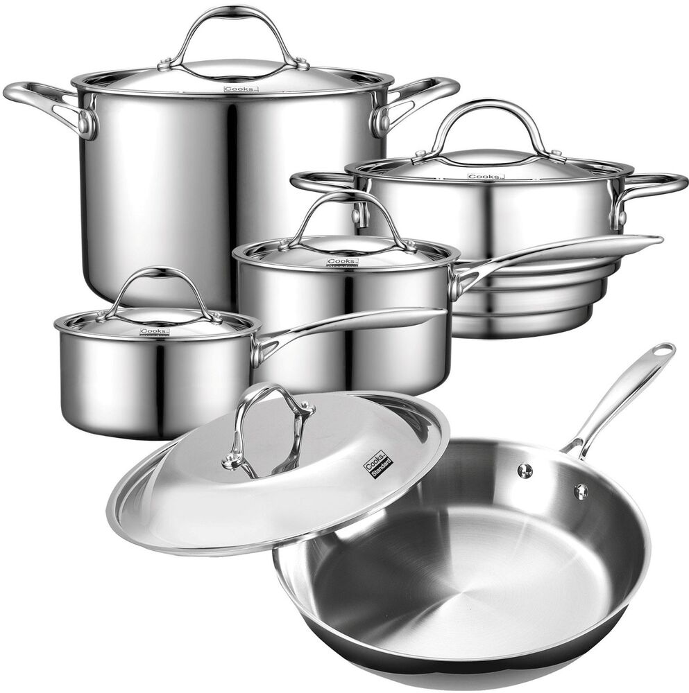 10 Pc All Clad Stainless