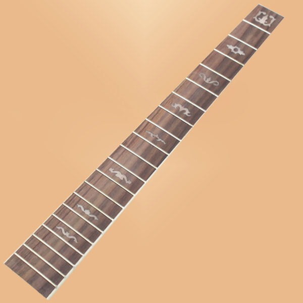 acoustic guitar rosewood fretboard fingerboard horn pear inlay w chrome frets ebay. Black Bedroom Furniture Sets. Home Design Ideas