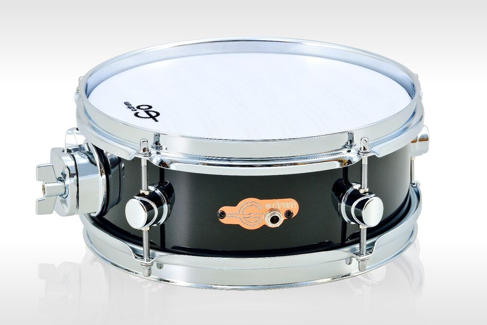 10 inch dual trigger electronic drum electronic snare drum mesh head black ebay. Black Bedroom Furniture Sets. Home Design Ideas