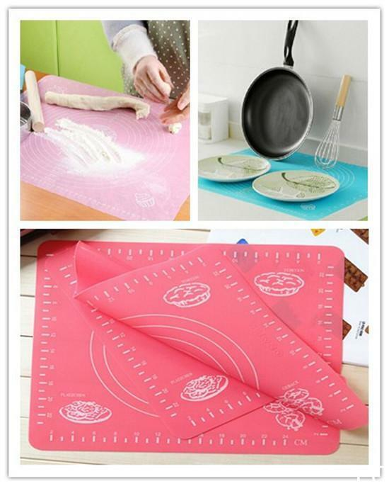 Clay Art Cake Icing Recipe : LO US Silicone Rolling Cut Mat Fondant Clay Pastry Icing ...