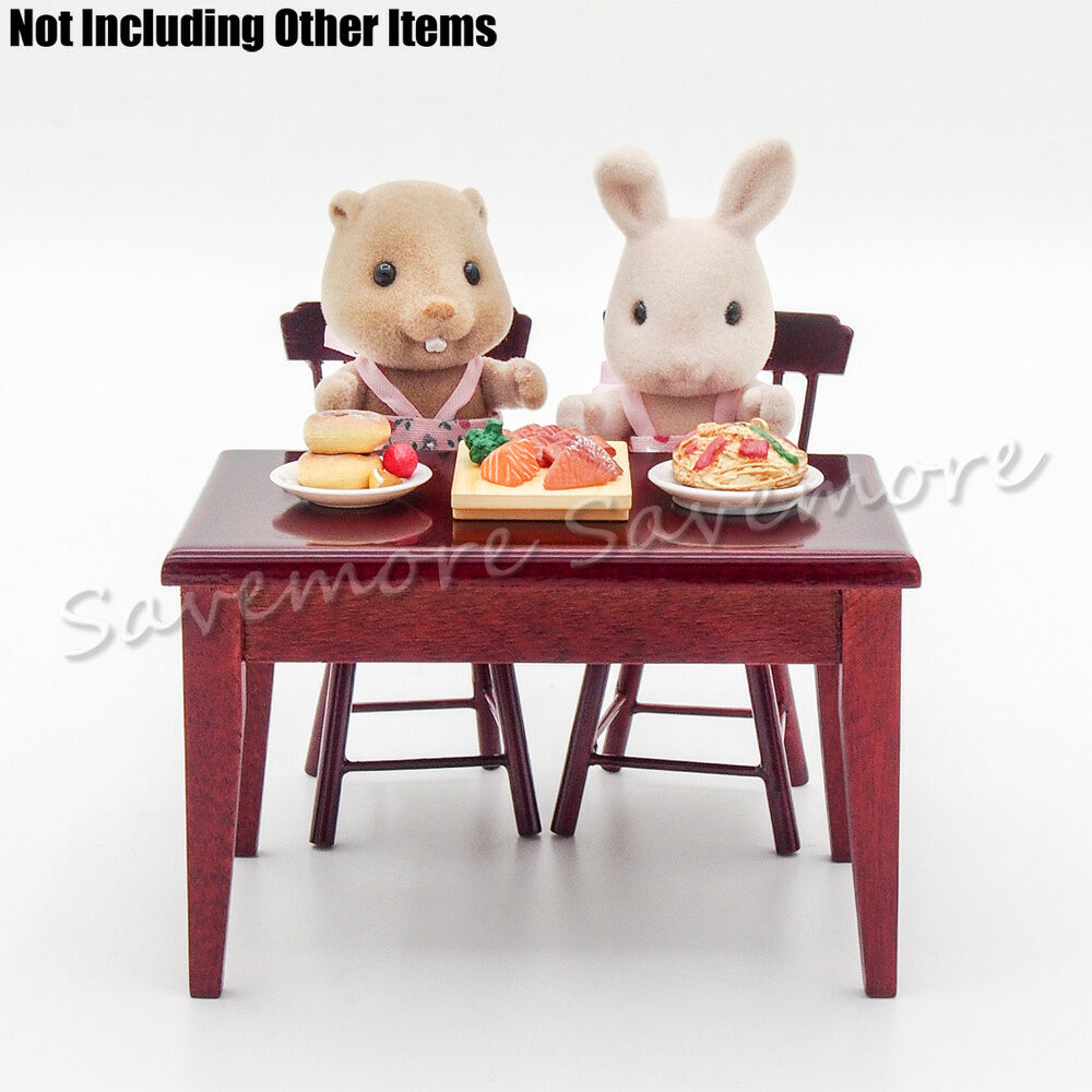 1 12 table w two chairs miniature furniture kitchen toys for Toy kitchen table