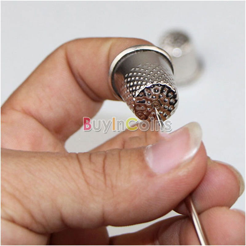 18mm Finger Thimbles Metal Shield Sewing Grip Protector