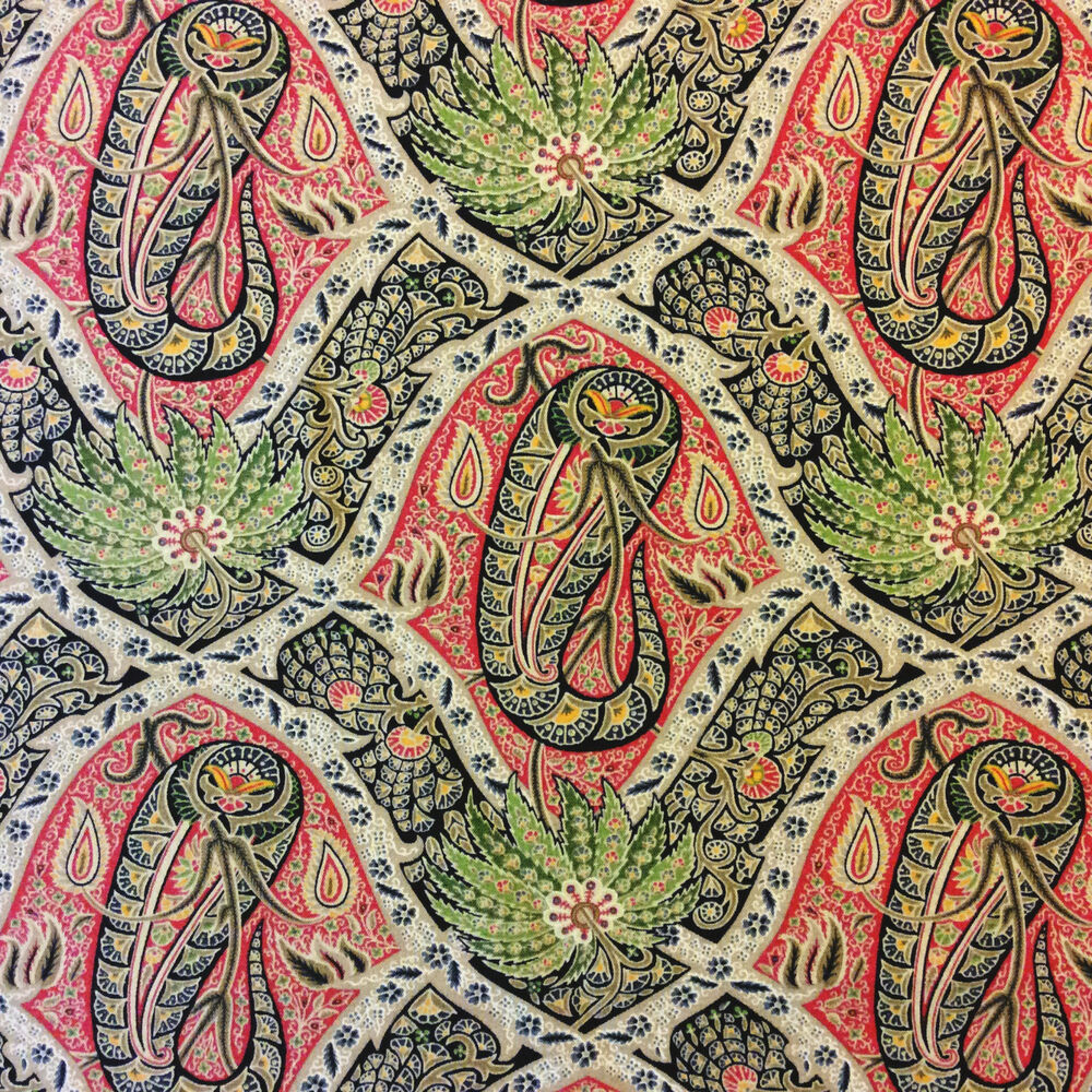... Palm Tree Tropical Paisley Indoor Outdoor Home Decor Fabric  eBay