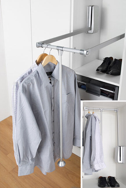 Wardrobe Hanging Rail Which Pulls Down 12kg Capacity