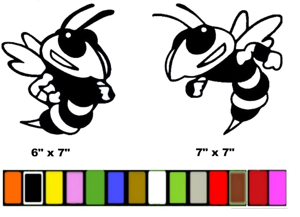 Bee bumble stickers decals any color ebay for Bumble bee mural
