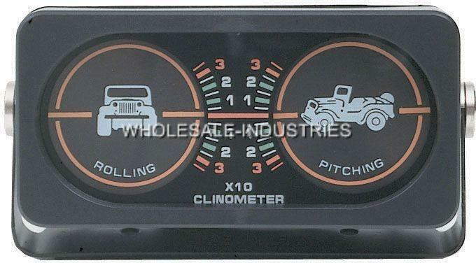 OFF ROAD TOUGH TRUCK INCLINOMETER ANGLE DEGREE ROLLING ...