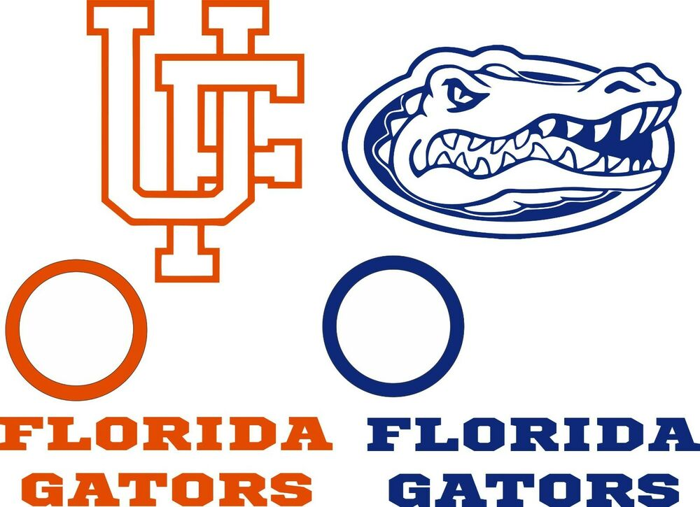 Florida Gator Stickers : Uf florida gators cornhole set of vinyl decal stickers