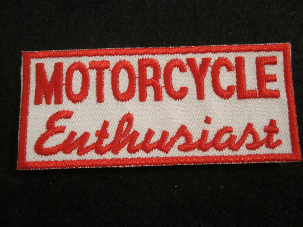 motorcycle enthusiast nomad jacket vest independant biker patch no club biker ebay. Black Bedroom Furniture Sets. Home Design Ideas