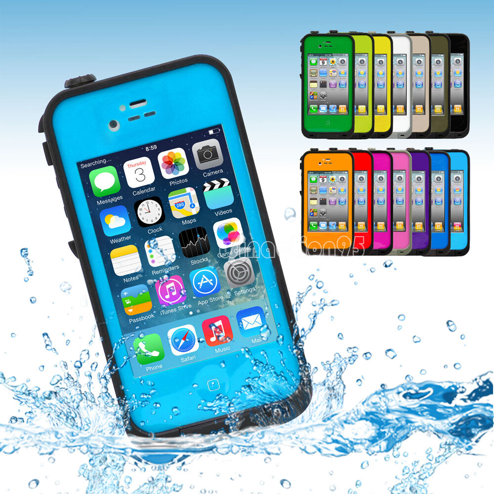 iphone 4s waterproof case waterproof snowproof shockproof dirtproof skin cover 14459