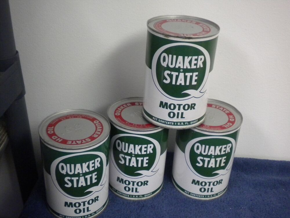 Quaker state motor oil can hd sae 40 metal vintage ebay for Quaker state motor oil history